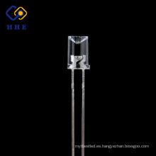5 mm cóncavo LED transparente de agua que emite rojo para tira de led