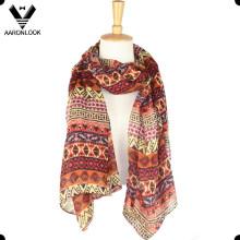 Forme la geometría barata impresa la bufanda oblonga