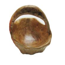 Antique Primitive Carved Natural Wooden Bowl