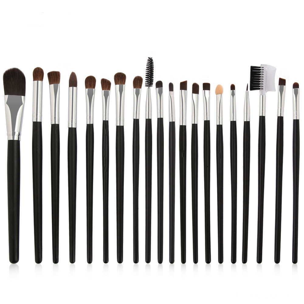 20 PCS Horse Hair Wooden Handle Makeup Brushes sets 8