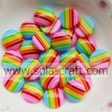 3.5*10MM Round Flatback Resin Rainbow Beads