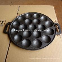cast iron bakeware baking round pan cake mould pan 19 holes