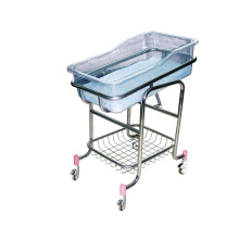 Hospital Stainless Steel Transparant Baby Crib