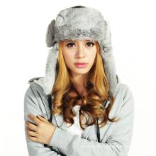 (LKN15028) Plush Winter Fleece Earflaps Hat
