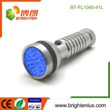 Fabrik Bulk Verkauf 4 * AAA Batterie betrieben Handheld Best 395-400nm Skorpion Aluminium führte uv Taschenlampe Taschenlampe