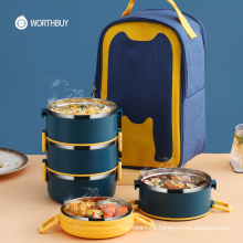 Portable Lunch Box For Kids School Thermal Food Container Leak-Proof Stainless Steel Bento Lunch Box Kitchen Food Box
