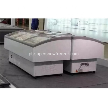 Supermercado display freezer refrigerador comercial freezer