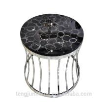 Черный агат сим-драгоценный камень журнальный столик