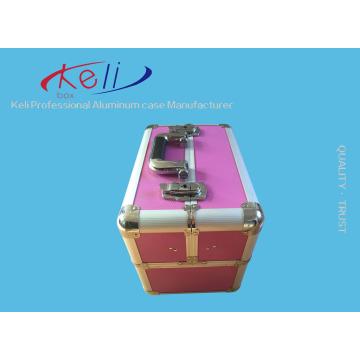 Export Schönheit Bunte personalisierte Aluminium Nagel Make-up Fall, Kosmetik Fall