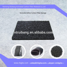 PU foam covered with granular activated carbon/activated carbon PU foam sponge