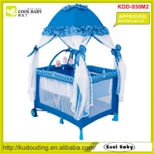 ASTM F406-12A Approved Manufacturer Baby Playpen with Mosquito Net