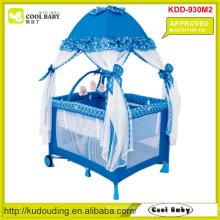 ASTM F406-12A Aprovado Fabricante Baby Playpen com mosquiteiro