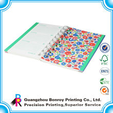 custom perfect bound soft cover spiral bound book printing