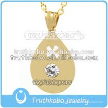 Venta al por mayor de Tibet PVD oro hueco lágrima colgante del encanto de cuentas resultados de la joyería