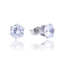 Paquete personalizado 3-8 MM de acero inoxidable piedra solos cúbicos zircon Stud Earring Designs