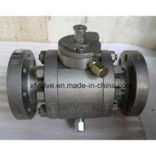 API6d Кованый стальной фланцевый шаровой клапан