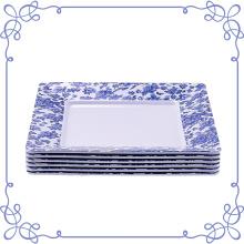 White Square Melamine Plate 10.5-inch Set Of 6