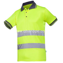 High Visibility Short Sleeve Work Shirt Yellow