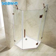 Seawin Bathroom Pivot Hingess Frameless  Glass Cabin Shower Door Enclosure
