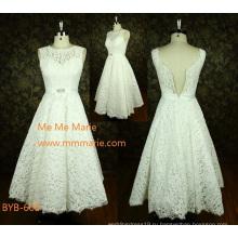 Последний высокое качество сшитое-line белого кружева сексуальное короткое свадебное платье из Китая