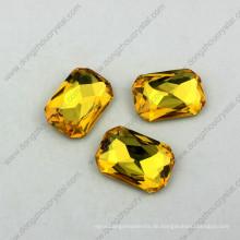 18X25mm Octagon Crystal Fancy Stein Punkt zurück Strass Alle Farben erhältlich