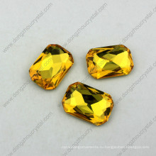 18X25mm Восьмиугольник Кристалл необычные камень точка назад стразы всех цветов