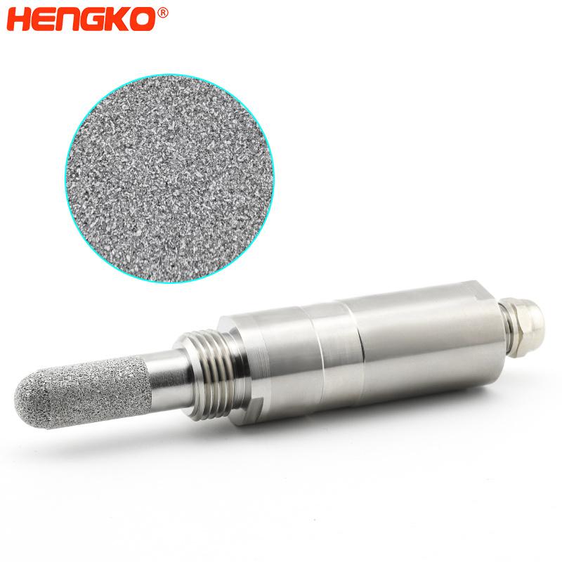 30 45 Micorn IP65 Sintered Metal Porous Filter Stainless Steel Sensor Probe HousingFor Relative Hmidity Transmitters