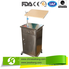 Stainless Steel Bedside Cabinet with Bedside Table