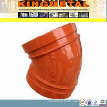 FM/UL Approved Fire Fighting Ductile Iron 11.25/22.5 Grooved Elbow