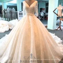 Alibaba bordado frisado mãe do vestido de noiva vestido de noiva