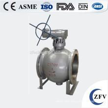 Made in China hard seal flange eccentric semi ball valve