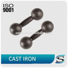 Mancuernas de agarre de hierro fundido de pintura negra