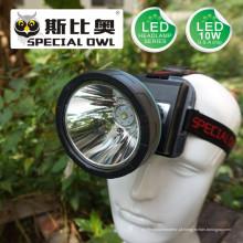 Farol de 5W 7W 10W LED com 3PCS * Bateria de lítio recarregável para o acampamento Outdoor e Coal Miner Lamp Mining Headlamp