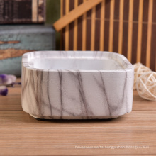 Water Transfer Printing Stackable Marble Concrete Candle Containers Set