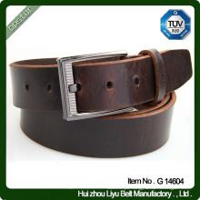 Fivela de botão simples 100% cinto de couro real em couro genuíno de couro para homens
