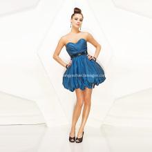 Belle robe de bal chérie sans bretelles mini taffetas à volants ceinture à paillettes robe de Cocktial