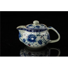 Small Size Peony Ceramic Tea Pot with Stainless Insert