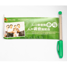 Promotional Pull out Banner Pen Plastic Pen