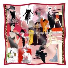 Bandana Bandana de seda para mujer de diseño especial