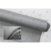 Tissu en fibre de verre revêtu de silicium couleur gris ignifuge