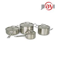 Venda quente 5 unidades de potes de aço inoxidável para cozinha