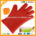 Hot-venda de preço de fábrica cinco dedo Non-stick Luva de Silicone BBQ