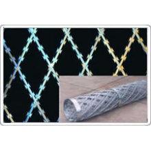 Barbelé soudés, clôtures de fil de fer barbelé de rasoir