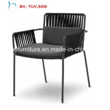 Garden Dining Furniture Rattan Chair with Fabric Cushion (CF1480C)