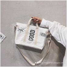 Custom recyclable printed logo organic cotton bag
