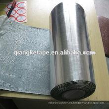Cinta de butilo autoadhesiva de aluminio plateado y aislante insonorizante