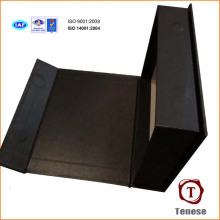 Подарочная коробка из высококачественного бумажного жёсткого картона с серебряной печатью