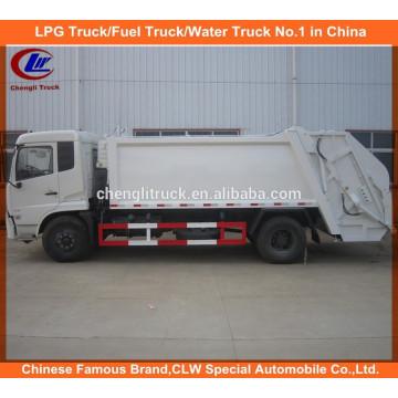 Dongfeng ordena o compactador de lixo Compacteur Camion