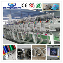 Computer embroidery machine with 10 heads for cap,t-shirt ,flat , finished garment embroidery machine for hot sales