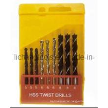 9PCS HSS Twist Drill Bit Set with Plastic Package